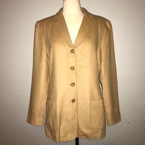 Talbots Camel Hair Jacket Blazer 10